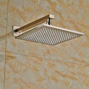 Senlesen SE4106 LED 10 Inch Brushed Nickel Rainfall Showerhead