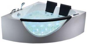 ALFI AM199HO Modern Whirlpool Bath Tub with Fixtures