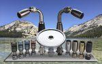 high sierra's solid metal low flow handheld showerhead