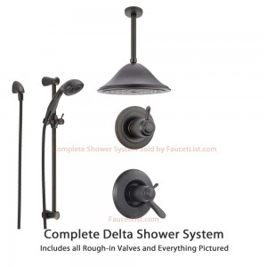 delta faucet lahara chrome shower system ss17t3883rb