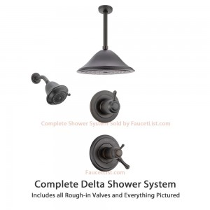 delta faucet 3 setting diverter showerheads ss17t9783rb