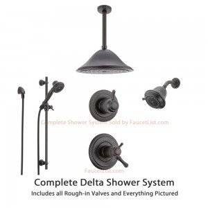 delta faucet 6 setting diverter showerheads ss17t9793rb
