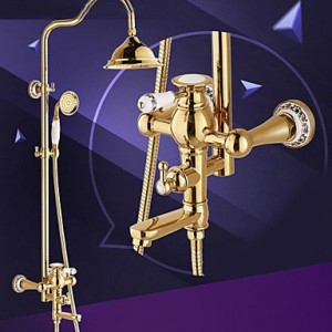 asbefore shower faucet traditional style ti pvd wall mount single handle rain b0150c12t0