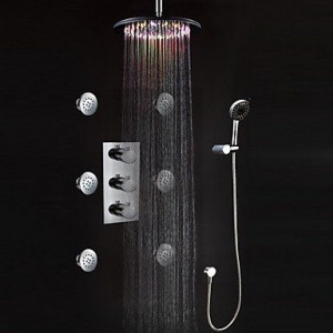 guoxian bathroom faucets thermostatic led showerhead b013vxcvjk