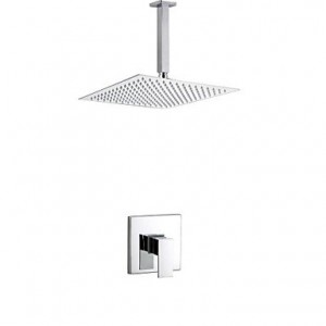 lei liping contemporary chrome wall mounted single handle 8 inch square shower b015h40tmc