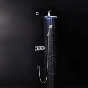 luci led chrome rain handshower b015h8khzw