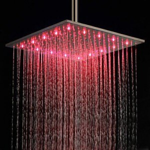 qin gudinglinyuhuasa led stainless brushed rain shower b013wuhx5e