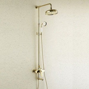 qin linyulongtou antique brass rain handshower b013wui4e8