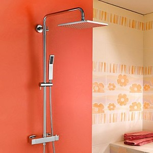 guoxian contemporary chrome brass thermostatic shower faucet b013vx6cxq