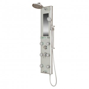 pulse kihei silver chrome shower spa 1013 gl
