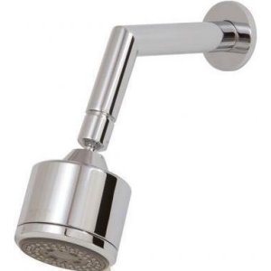 aquabrass brushed nickel universal 3 inch round showerhead with arm ab 467 bn