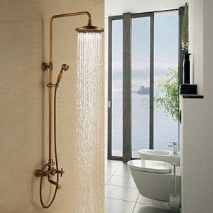 faucets antique shower faucet with 8 inch showerhead
