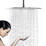 12 inch large square ultra thin rain showerhead