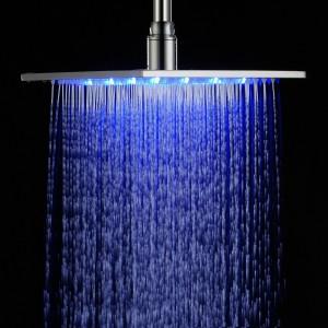 detroit bathware led rain stainless steel showerhead g45210 12 inch