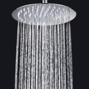 kissfunlife sanitary ware rain shower head ultra thin modern round stainless steel kfl08b