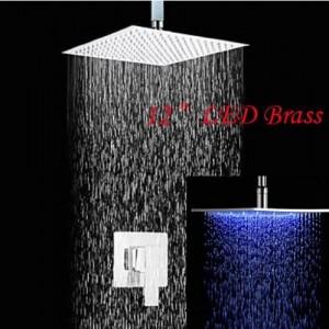 rozinsanitary ceiling mount led shower head 12 inch