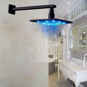 rozinsanitary led color 10 inch overhead rainfall shower head