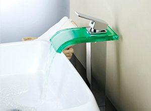 Detroit Bathware 51t Single Handle LED Waterfall Faucet