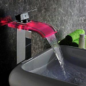 Detroit Bathware 652u Water Power LED Waterfall Faucet