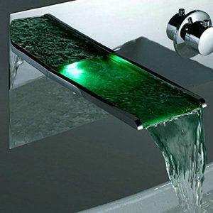 Detroit Bathware JN6401 Wall Mounted LED Waterfall Faucet