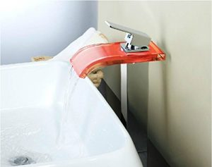 Detroit Bathware Single Handle LED Waterfall Faucet 0314