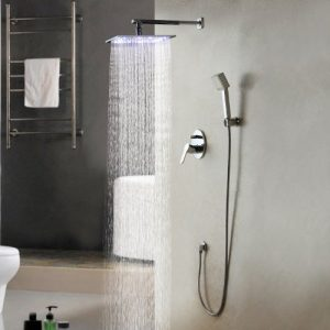 Sprinkle Wall Mounted Solid Brass LED Handheld Showerhead 162597